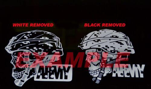 PICK SIZE Vinyl Decal US Army Skull Military Helmet Sticker Window Glass