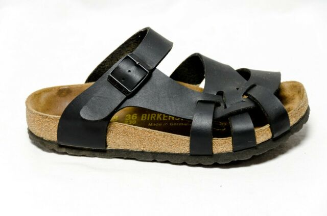 Birkenstock Pisa Women's US Size 5 EUR 36 Reg Fit Black Strappy Leather Sandals