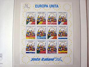 Timbres-Italie-de-0-44-ECU-Bloc-feuillet-1993-Europe-Europa
