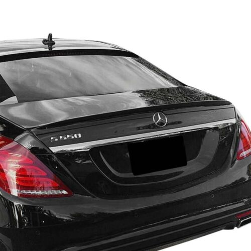 For Mercedes-Benz S560 18-19 Factory Style Fiberglass Rear Lip Spoiler Unpainted