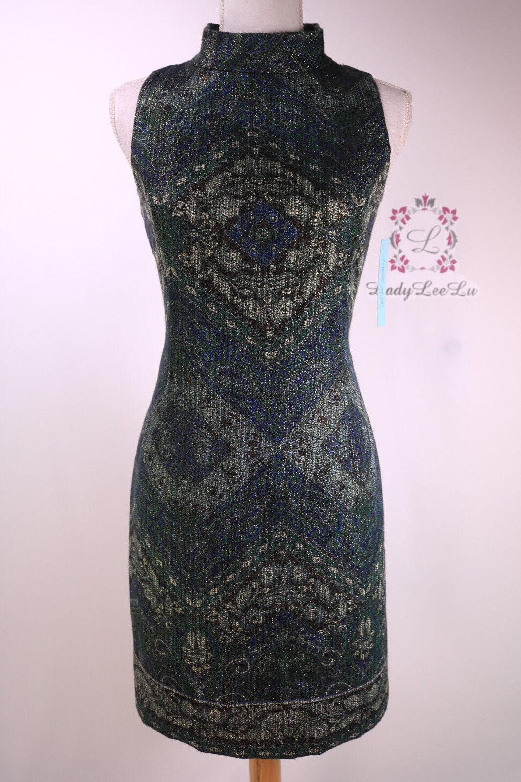 Antonio Melani New Juni Metallic Jacquard Dress Größe 2 6 8 10 12 New NWT