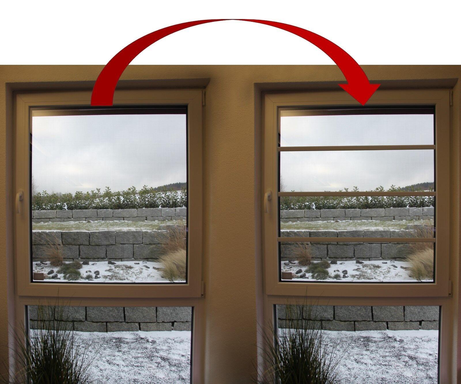 Sprosse zum Nachrüsten - für Fenster - Kunststoff selbstklebend weiß | Mode-Muster  | Quality First  | Verschiedene aktuelle Designs  | Bekannt für seine schöne Qualität