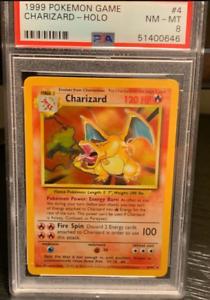 1999 Pokemon Base Set Unlimited Holo Charizard #4 PSA 8 NM-MT