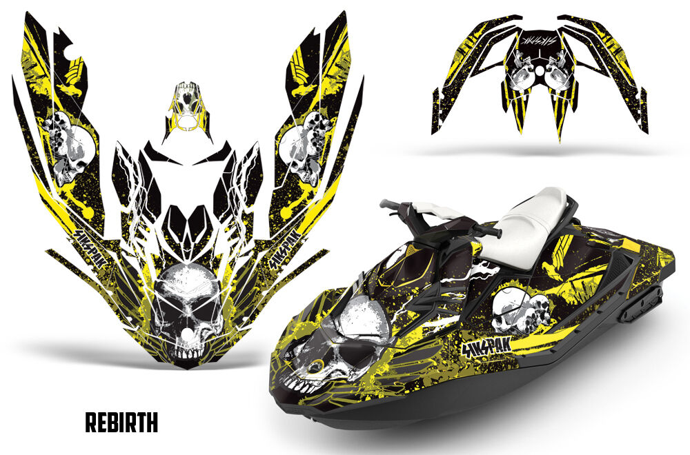 Sikspak Sea-Doo Bombardier Spark Set 3 Up Jet Ski Grafik Set Spark Wrap Jetski 15-18 RB Y 4bed9a
