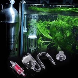 aquarium fish tank co2 diffuser plant valve u shape glass. Black Bedroom Furniture Sets. Home Design Ideas