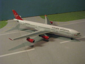 HASEGAWA-614024-VIRGIN-ATLANTIC-A340-311-1-400-SCALE-DIECAST-METAL-MODEL