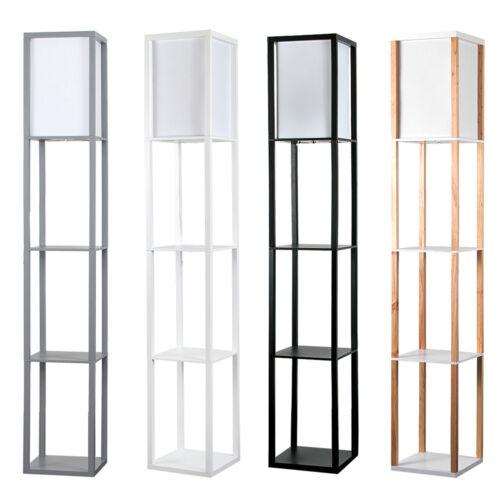 Modern Shelf Floor Standard Lamp, Oak Floor Lamp With Shelves Uk