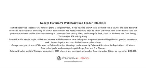 DL size George Harrison/'s Rosewood Fender Telecaster Greeting Card