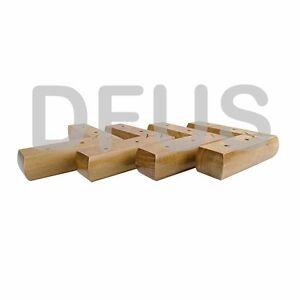 4x Wooden Corner Feet Oak Finish Sofa Chair Cabinet Settee Legs LW1515   EBay