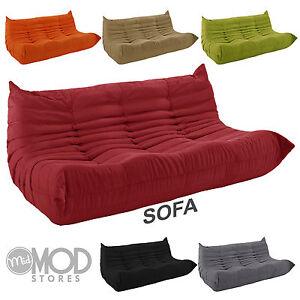 La Foto Se Está Cargando Downlow Sofa Mid Century Sofa Modern Sofa Fabric