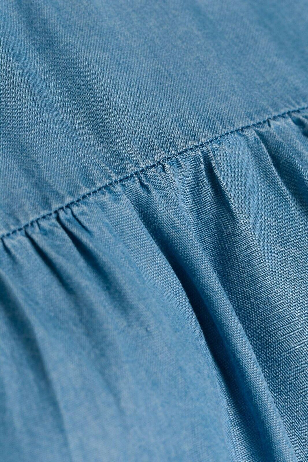 OUI - Cold Shoulder Kleid - Denimoptik - Jeans Blau - Gr. 46 - NEU mit Etikett