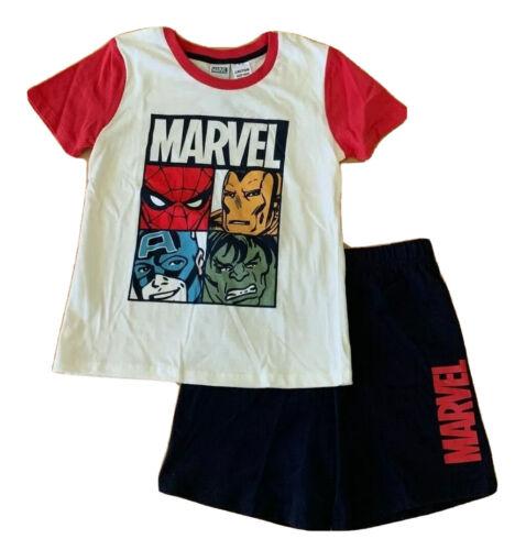 Details about  /Boys size 7 MARVEL Comics  superheroes summer pyjamas  pjs COTTON   NEW
