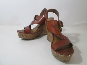 e81c03a23235 Image is loading Mossimo-Women-039-s-Platform-Sandals-Brown-Size-