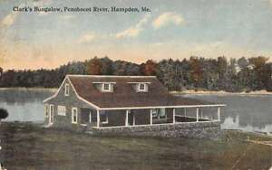 Hampden Maine Penobscot River Clarks Bungalow Antique