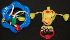 Bright Starts Yellow Giraffe Lot Baby  Blue Clack Slide Activity Toddler Toy