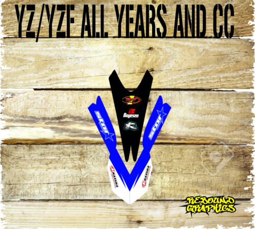 YAMAHA YZ YZF  85 125 250 450 FRONT MUDGUARD GRAPHIC-DECALS-STICKER-MX-YAMLUBE