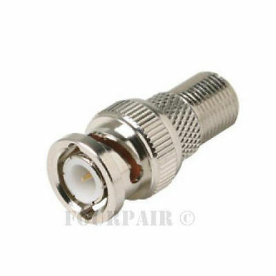 100 Pack Lot RCA Male Plug to F Female Coax Jack Adapter Connector Coupler RG59
