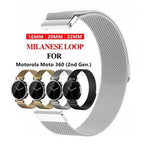 42-46mm-Milanais-Boucle-Bracelet-Bracelet-Bracelet-Pour-Moto-360-2nd-Gen-Smart-Watch