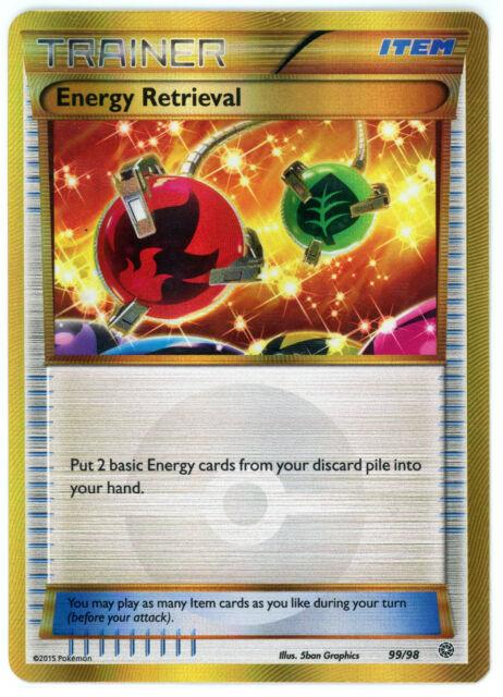 LP FULL ART Pokemon ENERGY RETRIEVAL Card ANCIENT ORIGINS Set 99//98 Rare Trainer