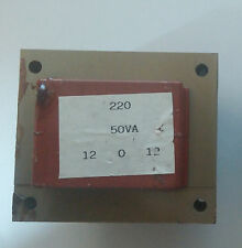 2x Trasformatore di isolamento lamellare 50VA prim.:220V, sec.:12-0-12V (24V)