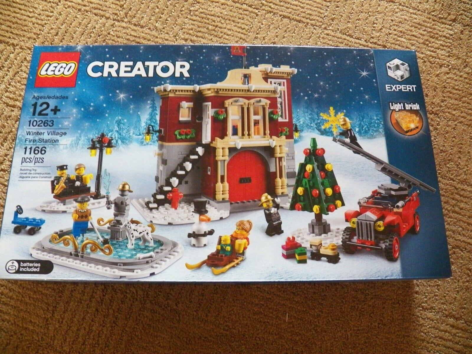 Fuego de Aldea de Invierno de Lego Creator 10263 Nuevo Para Navidad