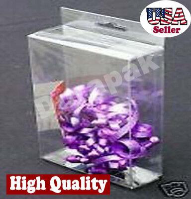 50 PCS 2-1//2x1x4 Clear Box W// Hang Hole Retail Display