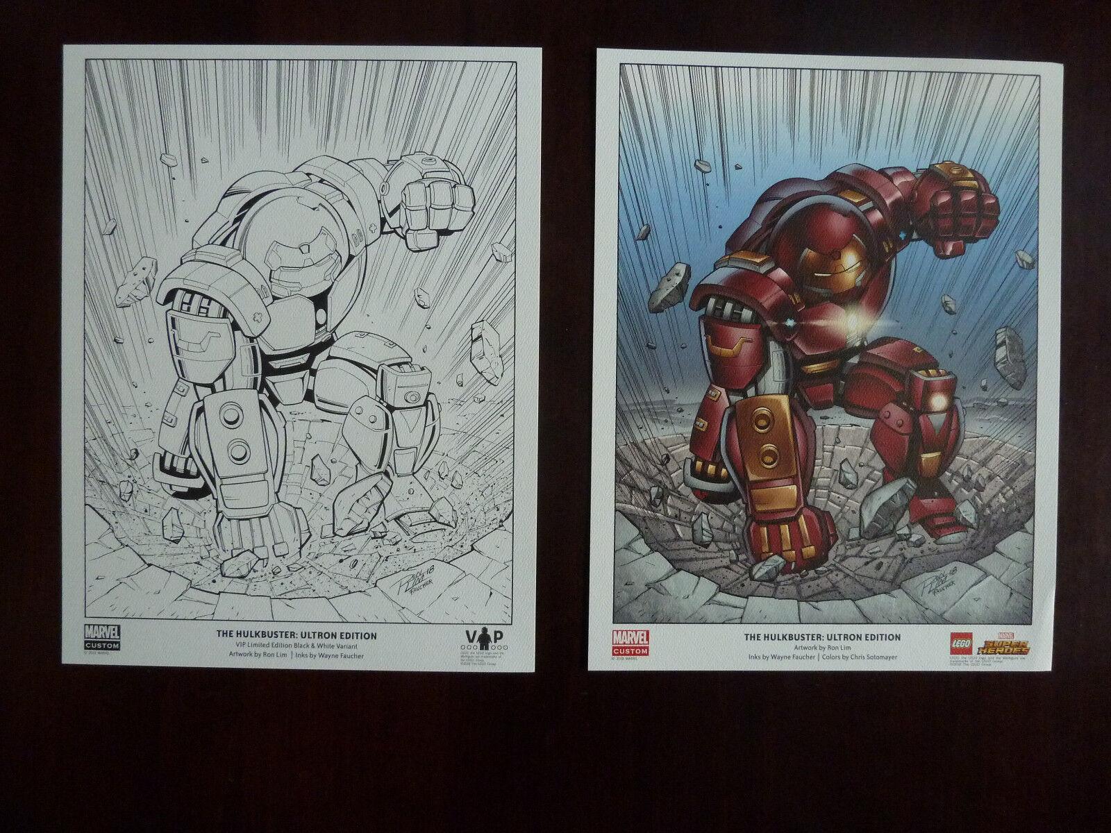 LEGO Iron uomo Hulkautobuster Limited edizione 5005573 5005574 Ultron edizione  Posters  nuovo di marca