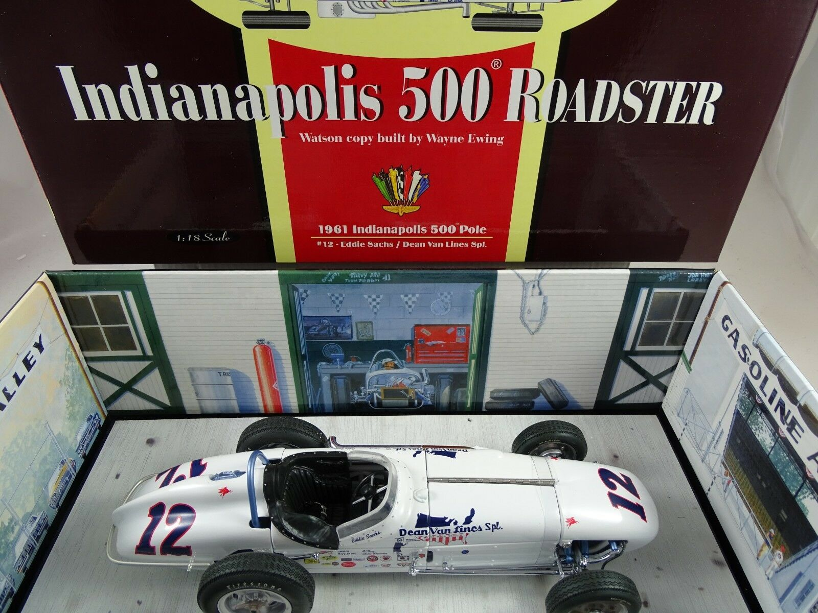 1 18 Carousel Watson Roadster 9161 Indianapolis 500 Polos Rareza§