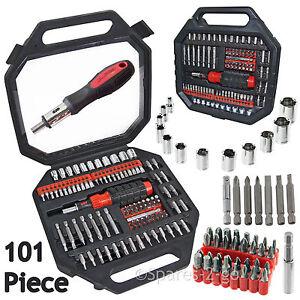 100-Piece-Screwdriver-Nut-Driver-Socket-Bit-Tool-Set-Phillips-Pozi-Torx-Slotted
