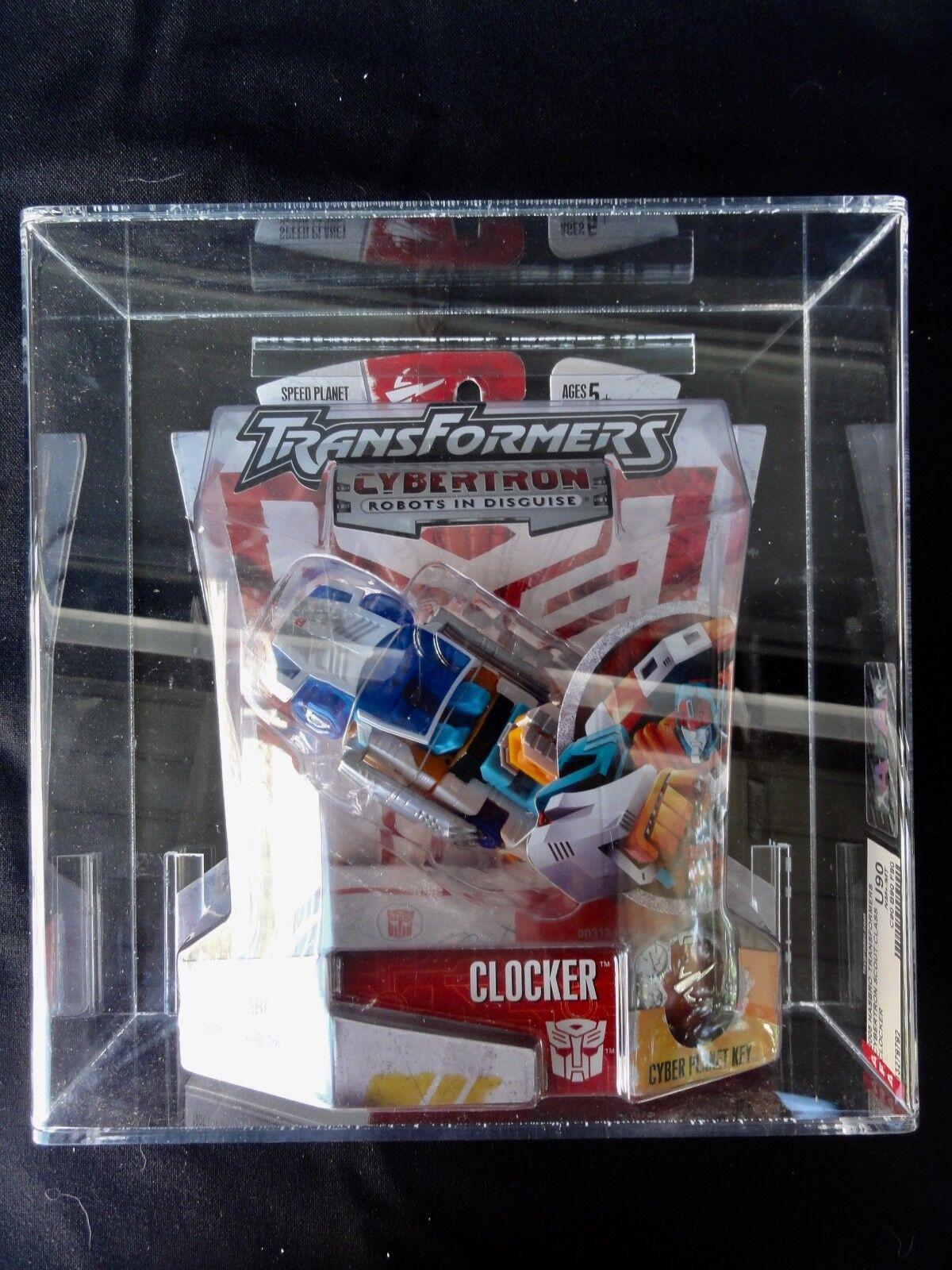 2005 Transformers AFA Cybertron Clocker Tape Sealed MISB MIB BOX