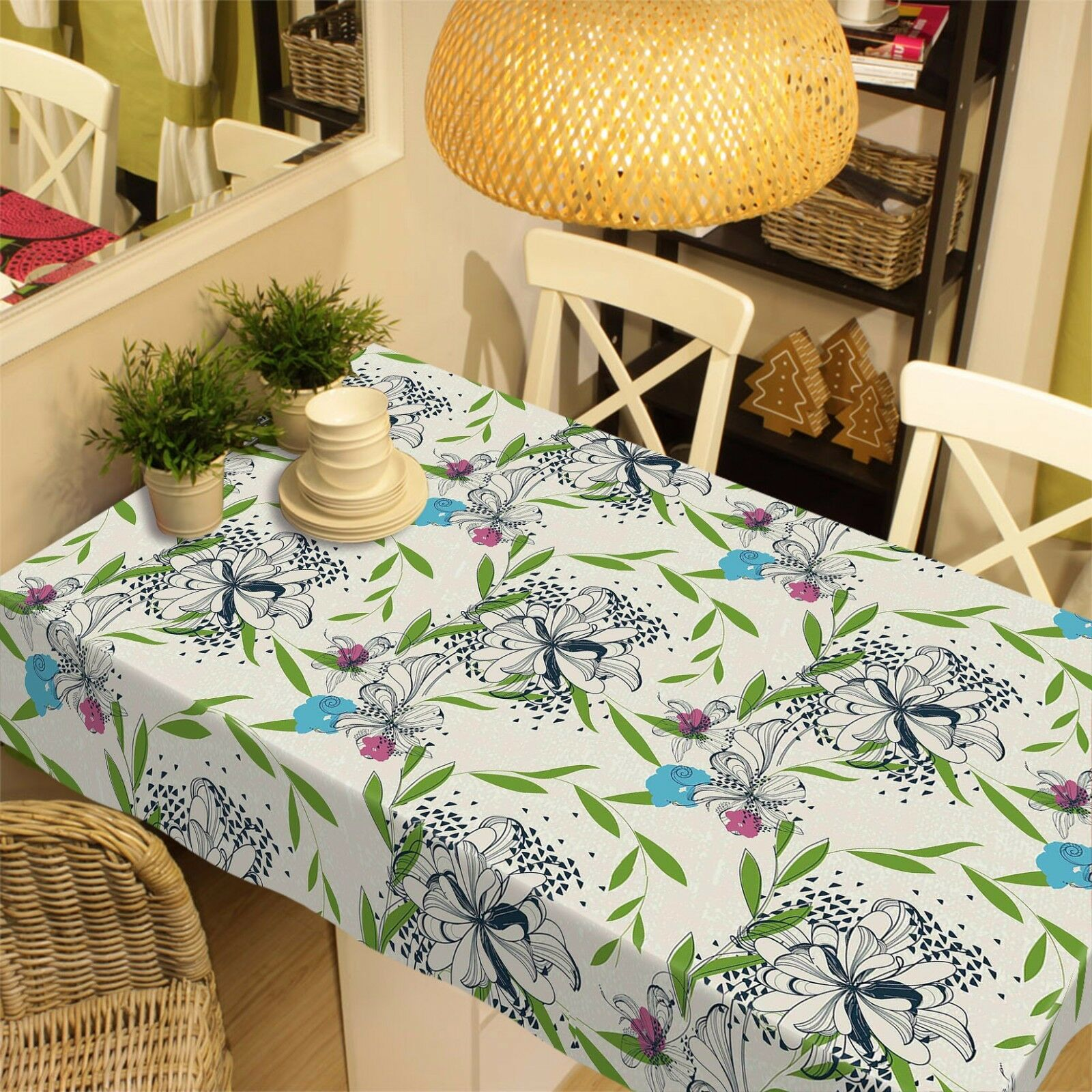3D Leaf  4234 Tablecloth Table Cover Cloth Birthday Party Event AJ WALLPAPER AU