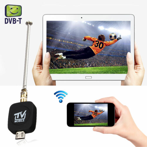 Micro USB DVB-T Digital Mobile TV Tuner Receiver+Antenna for Android 4.0-6.0 TCU