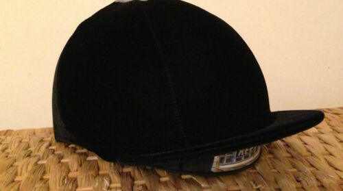 Riding Hat Silk Cover Equestrian Eventing Event Competition Velvet Velour Black