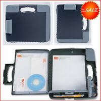 Briefcase Portable Clipboard Storage Organizer Business Case Office Pocket Boxes