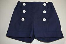 New Oscar de la Renta Girls's Sailor Cotton Shorts Navy Blue 4 years Rare