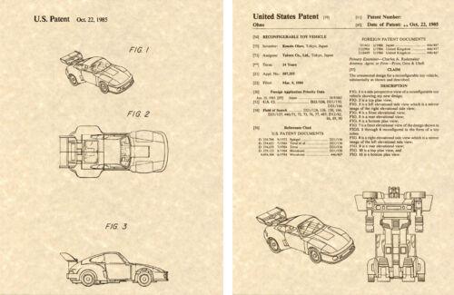 Transformers Jazz brevet Américain Art Imprimé Prêt à encadrer 1985 Ohno Autobot voiture
