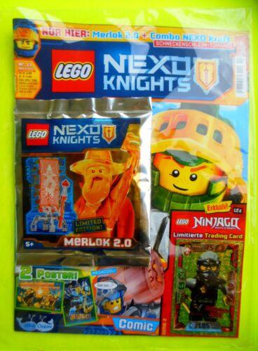 Lego Nexo Knights Magazin mit Merlok 2.0 und LE 4 Cole Limited Edtion Neu Ovp