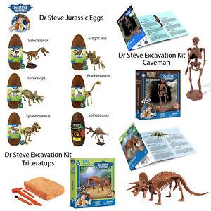 Dr-Steve-Hunters-Kids-Children-Jurassic-Eggs-Or-Excavation-Dinosaur-Caveman-Kits