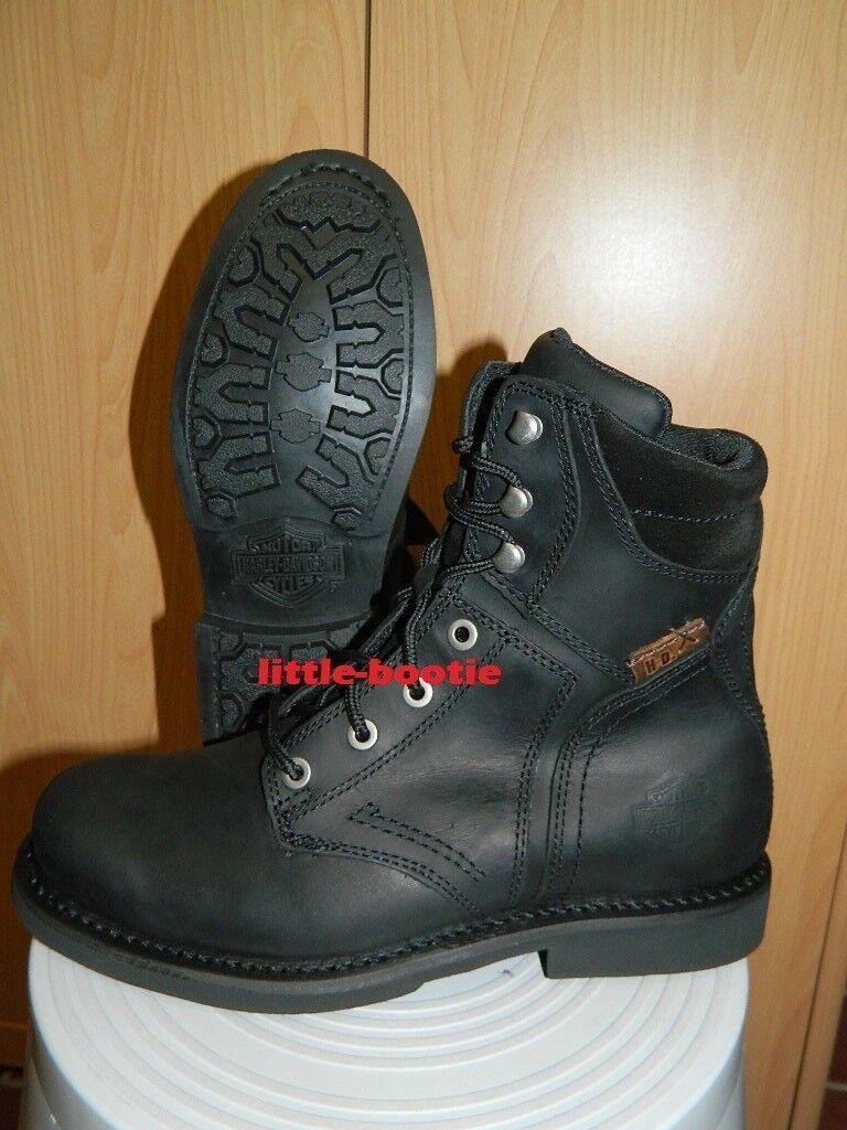 Harley-Davidson Stiefel Stiefel Leder Herren Gr. 44 oder 45 94284 Darnel schwarz      Good Design