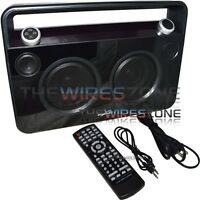 Supersonic Sc-1000bt Black Wireless Bluetooth Portable Boombox Speaker W/ Aux In