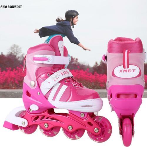 Kinder Inlineskates  LED Rad Inliner Schlittschuhe Fitnessskates Rollerblades