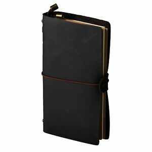 Crazy Horse Leather Refillable Vintage Travel Journal Schedule Book Notebook