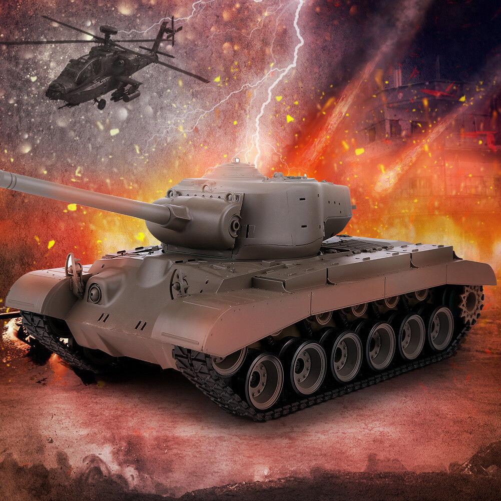 Heng Long 1/16 2.4G 3838-1 US M26 Pershing Batalla Tanque Tanque RC con Humo Y Sonido