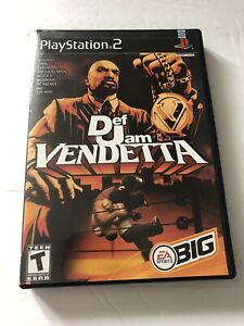 Def Jam Vendetta Sony PS2 *Case & Manual ONLY* NO DISC EA Big 2003