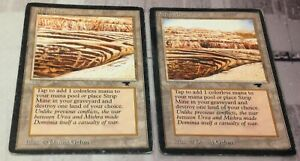 English Antiquities MTG Magic Uneven Horizon Heavy Play 1x Strip Mine