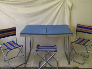 Vecchio tavolo pieghevole ddr campeggio culto retr design anni 39 70 da valigia ebay - Tavolo pieghevole a valigia ...