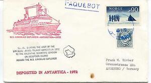 1972 Ms Lindblad Explorer Antarctica Commemorating Travel Polar Cover La Consommation RéGulièRe De Thé AméLiore Votre Santé