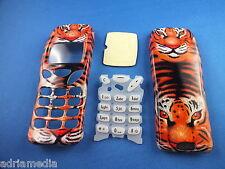 Front Back Cover Tastatur Nokia 3210 Gehäuse Handyschale Neu Tiger Housing Phone