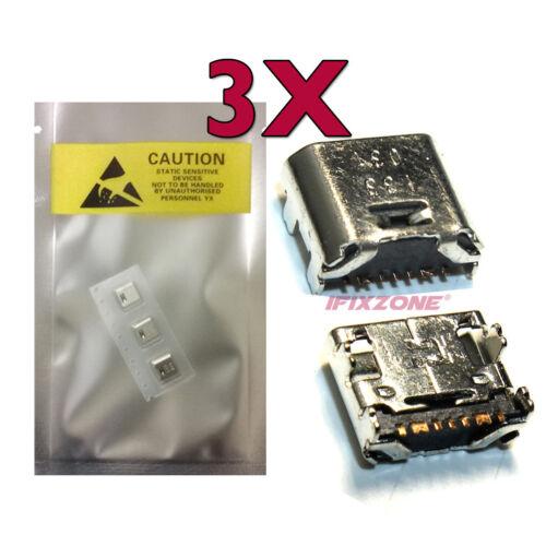 3 X New Micro USB Charging Port Samsung Galaxy Tab A 2016 7.0 SM-T280 T285 USA