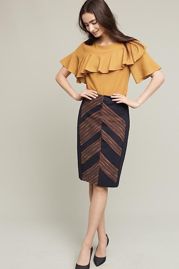 Anthropologie Eva Franco Western Pencil Skirt Size Medium NEW MSRP